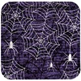 Creepy Webs Halloween 7-inch Square Paper Plates 8 Per Pack