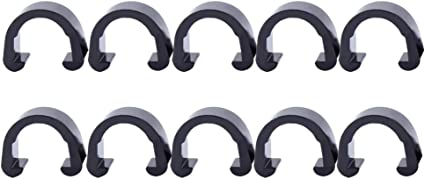10 Pcs Bike Cable Holder Plastic Embedded Style Tube Clamp Wire Arrangment Clips