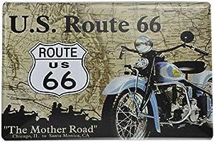 Westeng Publicidad Metálica de Pared Indian Moto y Route 66 Decoración Cartel de Chapa Decorativa Vintage Metal Cartel de la Pared Cerveza Decoración ...