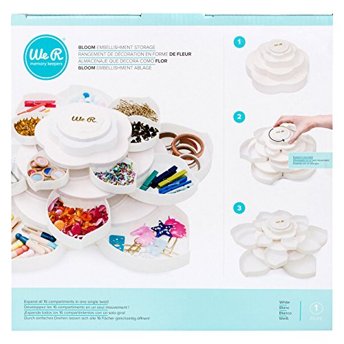We R Memory Keepers Bloom Embellishment Storage White