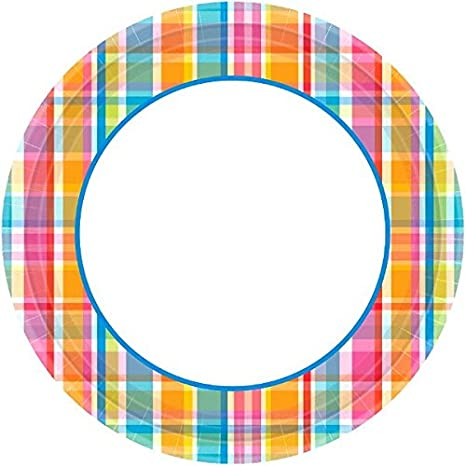40 Ct. AmscanBright Border Party Plate 6.75