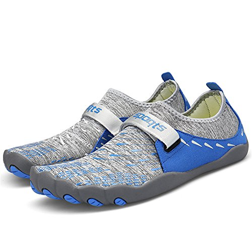 Dreamshow Aquaschuhe Rutschfest Schuhe Outdoor Trekking 46 Damen Fitnessschuhe Barfußschuhe Ultraleicht 36 Sport Blau Herren tvxqfrFtw6