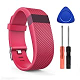 UCAI for Fitbit Charge HR Bands,Adjustable Replacement Accessories Straps for Fitbit Charge HR Wireless Activity Wristband,Large Small Bands for Women Men (Pink Large)