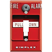 Single Toggle Wall Switch Cover Plate Decor Wallplate - Fire Alarm
