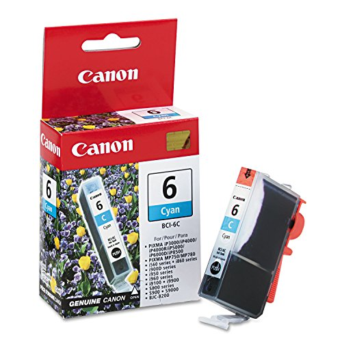 Canon BCI6C (BCI-6) Ink Cartridge, Cyan - in Retail Packaging