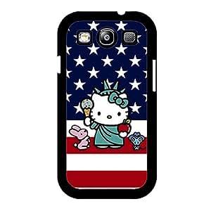 Visual Design Cartoon Hello Kitty Phone Case for Samsung Galaxy S3 I9300 Beauty Style Cover Case