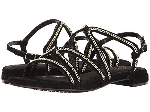 Aerosoles Sandals Suede (Aerosoles Women's Downtown Flat Sandal, Black Suede, 7.5 M US)