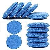 wax applicator pad - CarCarez Microfiber Foam Car Wax Applicator Pad for Hand Polish, Pack of 12