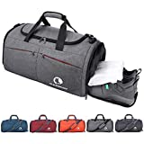 366eeaa48313 Amazon.com | Samstrong Sports Gym Bag with Shoes Compartment 50L ...