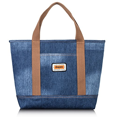 Leaper Denim Tote Bag Women Handbag Beach Bag Denim-Blue