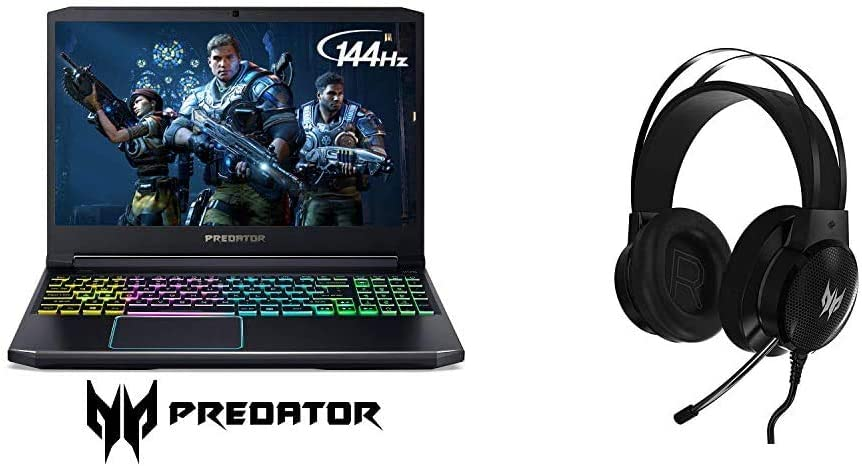 Acer Predator Helios 300 Gaming Laptop, Intel Core i7-9750H, GeForce GTX 1660 Ti with Predator Galea 300 Gaming Headset