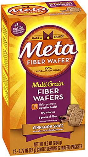 Metamucil MultiGrain Fiber Wafers, Cinnamon Spice 24 ea (Pack of 9) by P&G-HEALTH
