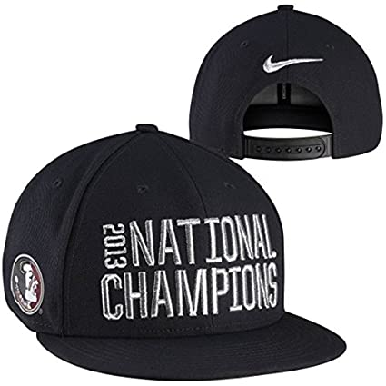 Amazon.com   Nike Florida State Seminoles (FSU) 2013 BCS National Champions  Locker Room Player s Snapback Hat - Black   Sports   Outdoors f89b72baf197