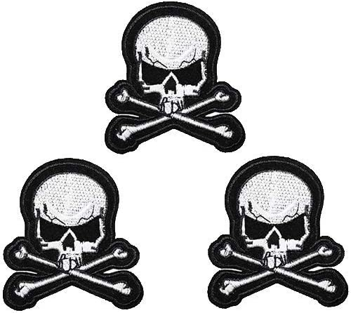 Ride Hard Live Free Cross Skull Iron On Patch Biker Skeleton Badge Applique Sew