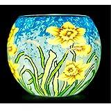 Benaya Sunshine Daffodils Tealight Holder by Benaya Art Ceramics