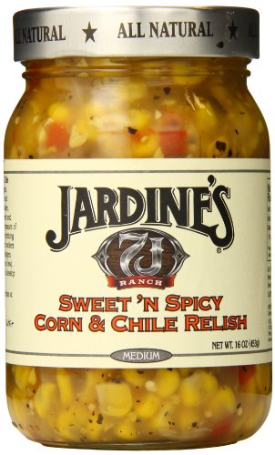 - Jardine's 7J Ranch Sweet N Spicy Corn Relish, Medium, 16 Ounce