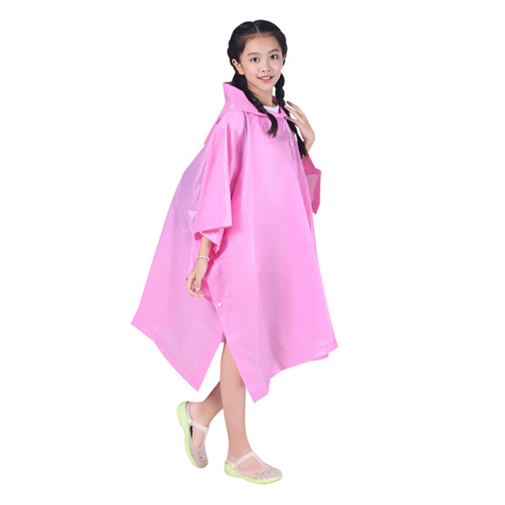 SDGDFXCHN 1pc Children Raincoat Lovely Cloak Thickening Conjoined Student Raincoat Spacious Poncho Reusable