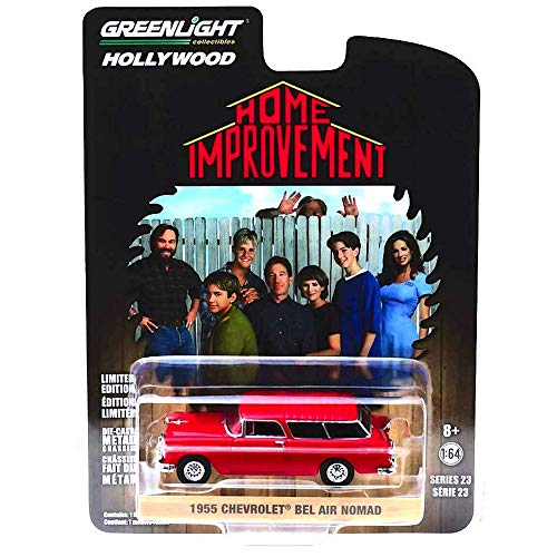 Greenlight Home Improvement 1955 Chevrolet Bel Air Nomad Hollywood Vehicle 1:64 Scale ()