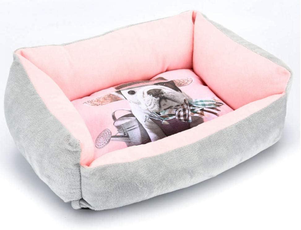 Dengjiam Kennel Pet Nestcat Bed House Soft Pet Cat Hamaca Cave Colchón Basket Nido de Cachorro Transpirable Perro pequeño y Mediano Tamaño Lavable: Grande