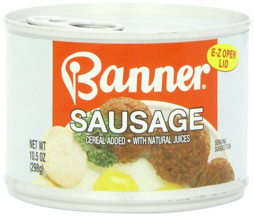 Armour Banner Sausages, Easy Open, 10.5 Ounce (Pack of 12)