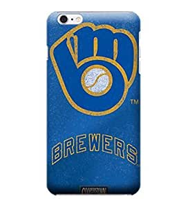 iPhone 6 Cases, MLB - Milwaukee Brewers - Cooperstown Distressed - iPhone 6 Cases - High Quality PC Case