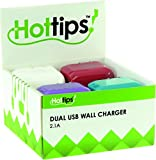 Hottips Tray Pack 2.1a Dual USB Wall Charger- 10-Count(Pack of 10)