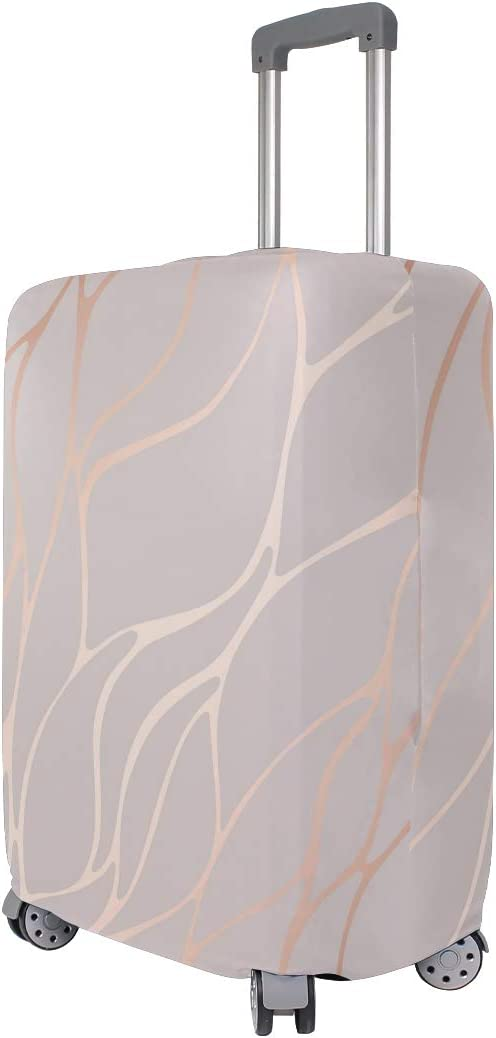 Rose Gold Abstract Marble Travel Suitcase Protector Zipper Suitcase Cover Elastic
