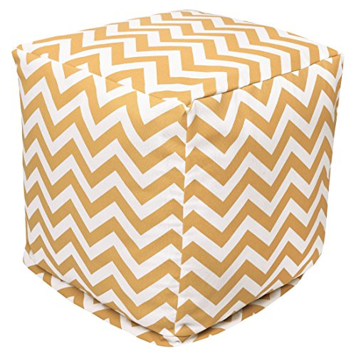 Majestic Home Goods Yellow Chevron Small Cube