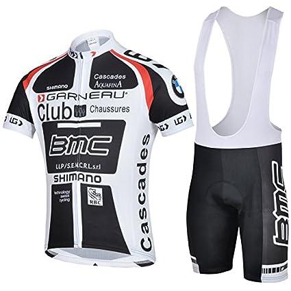 Amazon.com   New Unisex BMC Racing Team Biker Cycling Short Sleeve Jersey  Padded Shorts Bib Shorts Suit Set   Everything Else 528ddbcda