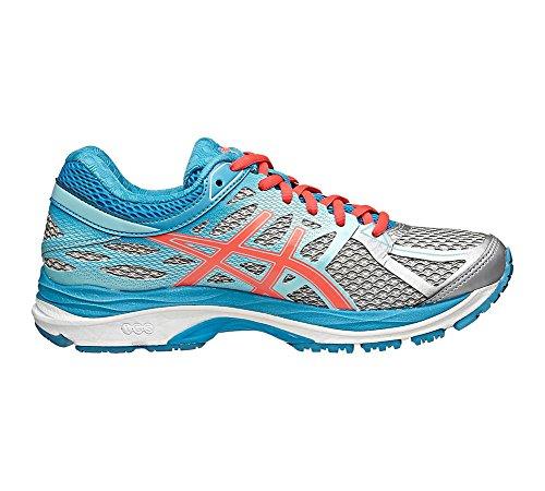 ASICS Women's Gel-cumulus 17 Running Shoe, Silver/Hot Pink/Turquoise, 6 M US
