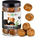 CeeBeeDoo Dog Treats with Hemp Oil for Pain Relief & Anxiety – Healthy & Tasty Hemp Treats for Dogs – Natural Pet Hemp Chews Dog Calming Treats for Small & Large Dogs, (Chicken Balls)