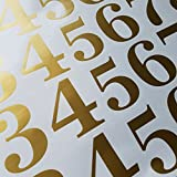 Classic Style Die Cut Vinyl Numbers (3 inch Soft Metallic Gold)