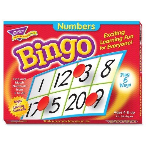 Jeu de Bingo de nombres