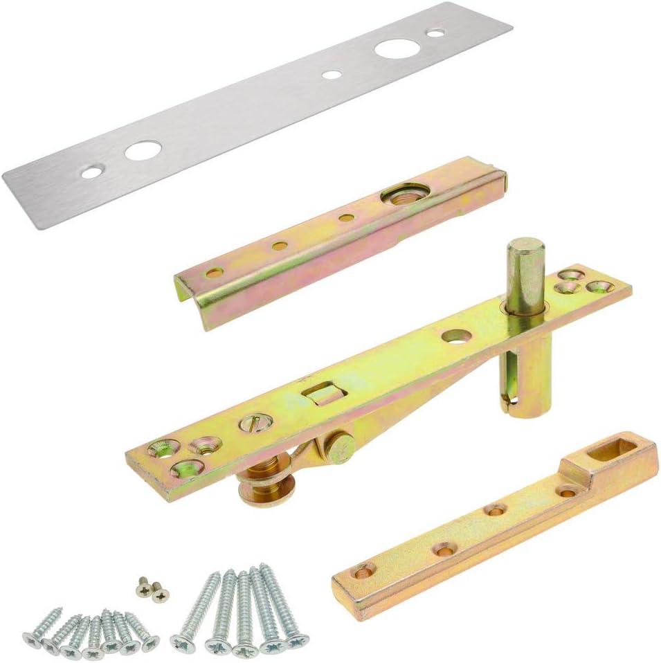 PrimeMatik - Kit de pernios y bisagras de Puerta de Madera para cierrapuertas de Suelo