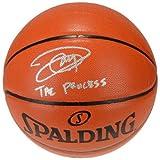 JOEL EMBIID Autographed / Inscribed 'The Process' Spalding Basketball FANATICS