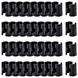 ANPHSIN 36 Pairs 72 Pack Wire Shelving Shelf Lock Clips for 1'' Post- Shelving Sleeves Replacements for Wire Shelving System