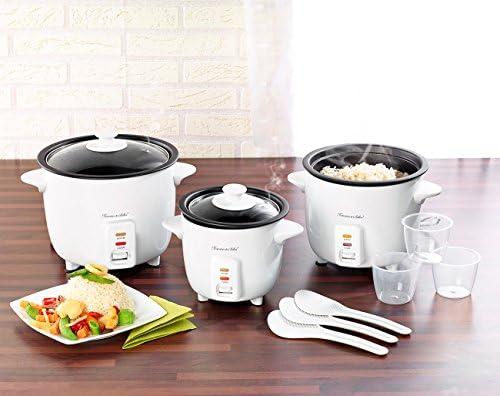 Rosenstein & Söhne Rice Cooker: Reiskocher mit Warmhaltefunktion, 400 Watt, 1 Liter Fassungsvermögen (Kocher)
