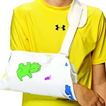 OTC Kidsline Arm Sling Shoulder Cradle Style Support, Fun Print, Youth