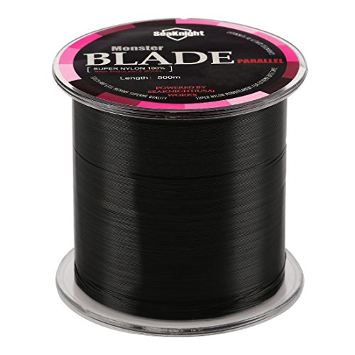 10 Lb Test Fishing Line (SeaKnight Monster Blade Monofilament Fishing Line 500m/547yds Japan Material Nylon Fishing Line Black 10LB/4.53KG/0.26mm/500 Meters)