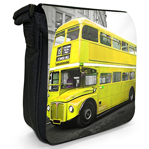 Shoulder Black Small Size Double Yellow Bag Bus Canvas London Decker IYHx1vR