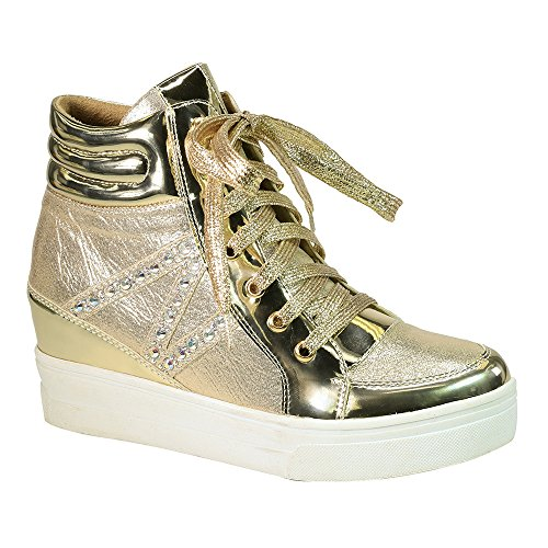 Oro Sneaker Alta Moda Femminile Di Angelina Delle Donne