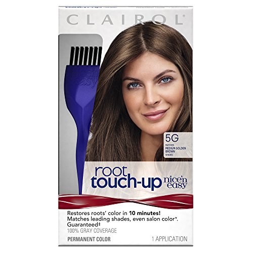 Clairol Nice 'n Easy Root Touch-Up 5G Kit (Pack of 2) Matches Medium Golden Brown Shades of Hair Coloring, Includes Precision Brush (Touch Up Roots)