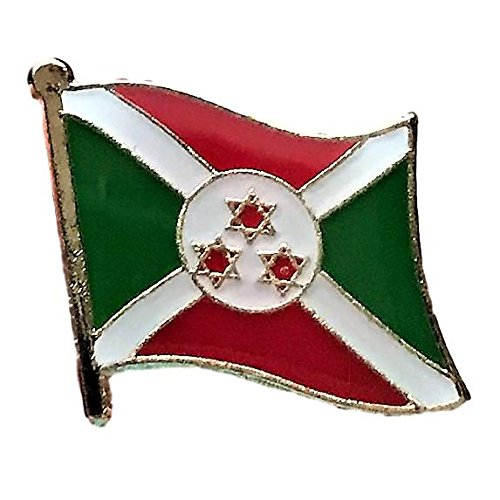 "Backwoods Barnaby Burundi Flag Lapel Pin (0.75"" x 0.75"")"