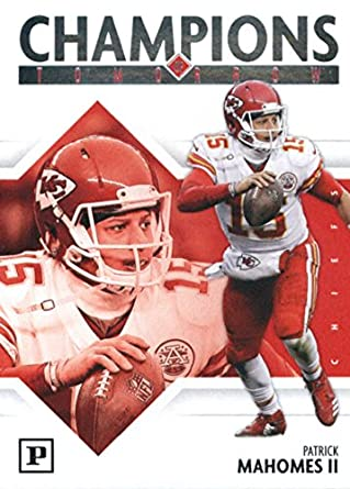 8b813c3b5 2018 Panini Champions of Tomorrow  6 Patrick Mahomes II Kansas City Chiefs  Football Card
