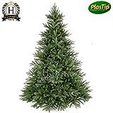 PREMIUM Spritzguss Weihnachtsbaum 210 cm Edeltanne Christbaum Spritzgusstanne Kunsttanne Tannenbaum Original Hallerts Lancaster