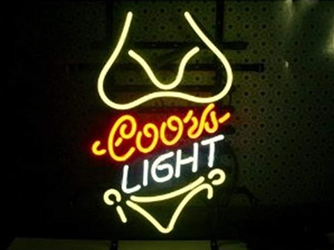 Coors Light Yellow Bikini Beer Bar Pub Store Party Room Wall