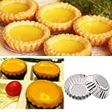 Pack of 20pcs Egg Tart Mold Stainess Steel