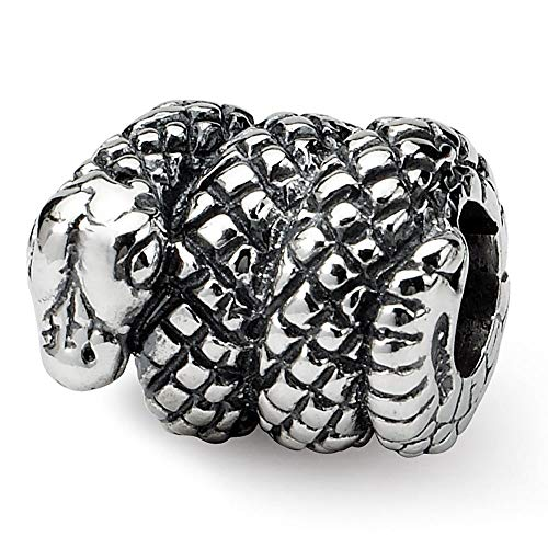 Sterling Silver Reflection Snake Solid -