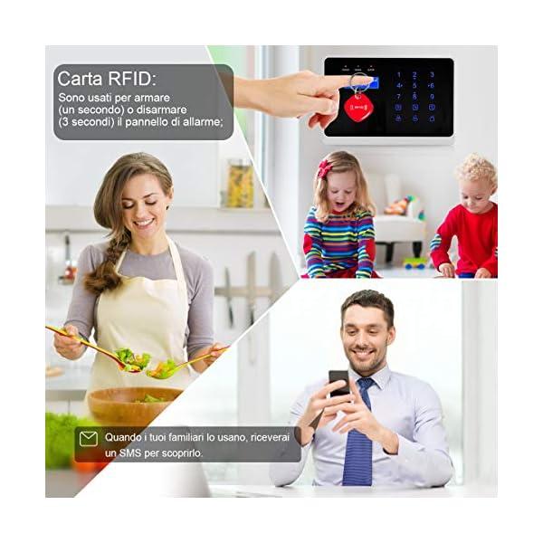 ERAY WM3FX WiFi + GSM / 3G Sistema di Allarme Domestico Wireless, Antifurto Kit con Pannello di Controllo, APP Gratuita… 5 spesavip