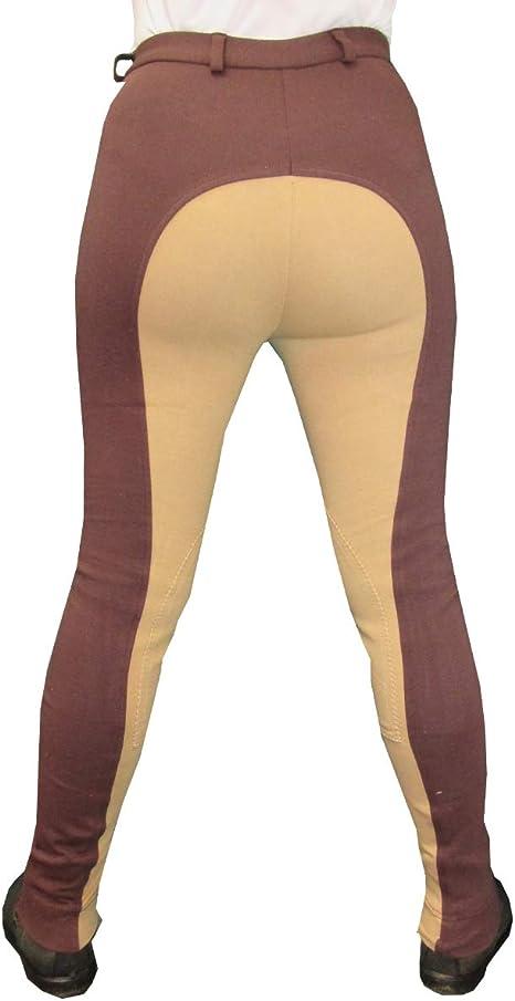 Ladies Beige Silicone Grip Riding Tights Lycra Riding Leggings